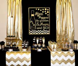 Vegas Themed Baby Shower by Gold And Black Party Champagne Bridal Shower Lillian