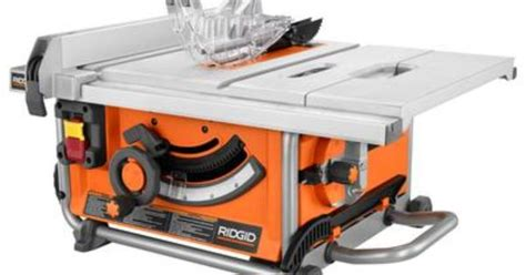 home depot ridgid tile saw ridgid portable table saw 10 inch r4516 home depot