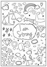 Coloring Pages Hopscotch Brave Am Colouring Spirit Imagination Confidence Designed Every Build sketch template