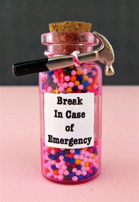 hilarious emergency candy jar gift diy morenas corner