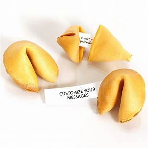 Traditional Vanilla Fortune Cookies - Personalized ...