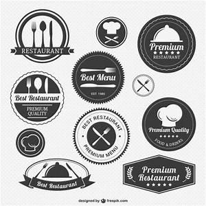 Vintage restaurant logo pack Vector | Free Download