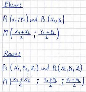 Fehlende Koordinaten Berechnen Vektoren : mittelpunkt einer strecke ~ Themetempest.com Abrechnung