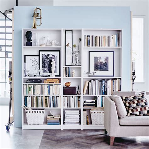 armoire basse de bureau 15 fina sätt att inreda med bokhyllan billy decoration