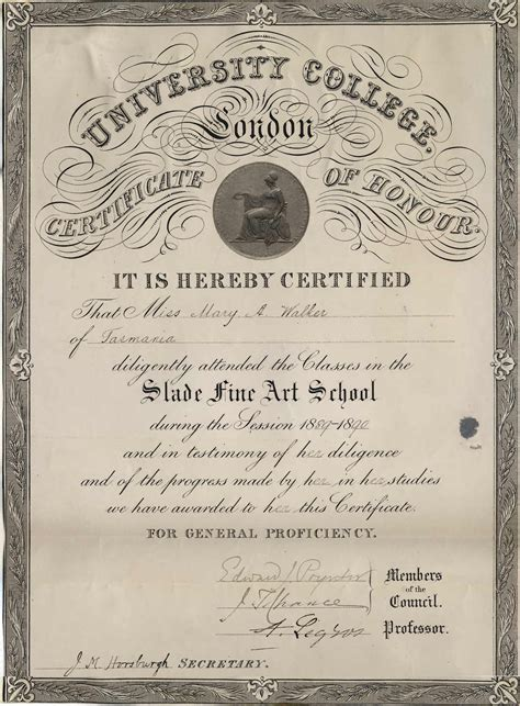 Certificate Art