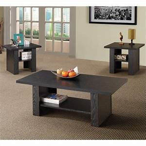 coaster 3 piece occasional table sets contemporary set in With living room set with coffee table