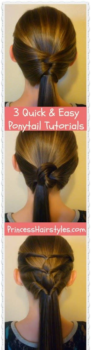3 Quick and Easy Ponytail Hairstyles Hairstyles For