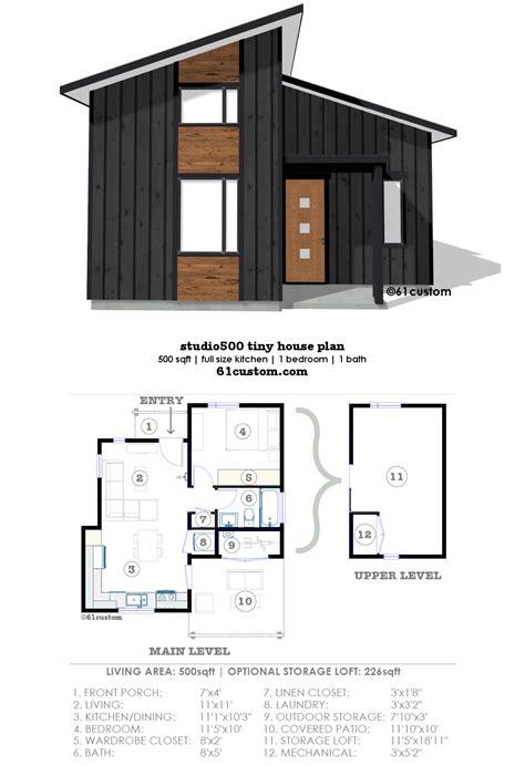 studio500: modern tiny house plan 61custom