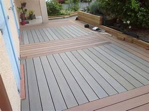 Lambourde Terrasse Composite : pose terrasse composite sur pelouse merveilleux montage ~ Premium-room.com Idées de Décoration