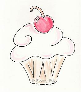 How to draw cupcakes and cake