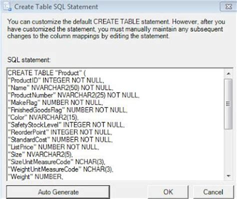 sql query to create table sql troubles sql server to oracle data export second