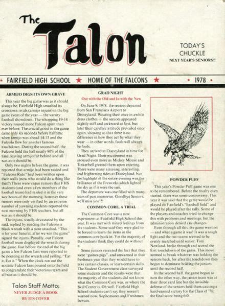 online high school yearbooks 1978 fairfield high school yearbook online fairfield ca