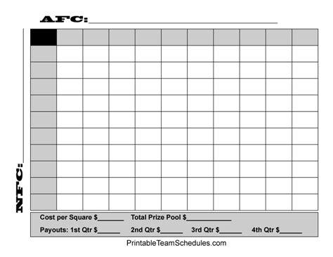 free printable football squares template bowl pool template beepmunk
