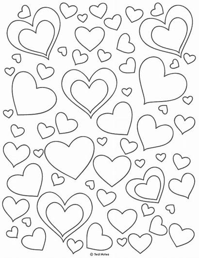 Heart Printable Coloring Template Cut Stencils Templates