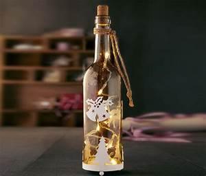 Lichterkette Für Flaschen : sch ne idee lichterkette in eine flasche stecken und mit wei en elementen dekorieren ~ Frokenaadalensverden.com Haus und Dekorationen