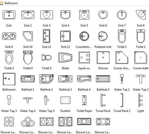 bathroom symbols archi plans   floor plan