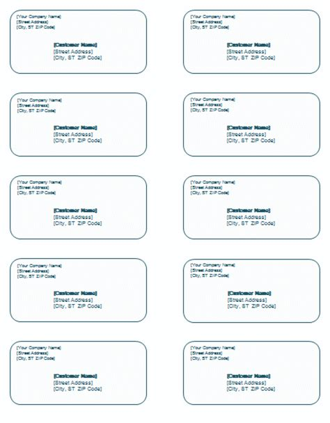 mailing label template printable label templates