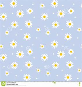 Daisy Cute Seamless Pattern. Stock Vector - Illustration ...