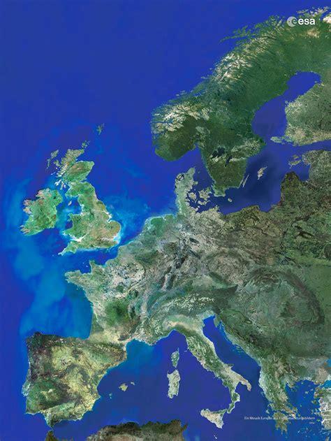 ESA - Satellitenbild von Europa