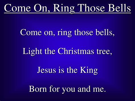 ppt come on ring those bells powerpoint presentation