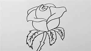 Modèle De Dessin Facile : comment dessiner une rose facilement youtube ~ Melissatoandfro.com Idées de Décoration