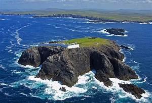 Eagle Island Light Lighthouse In Near Tearmancarragh West