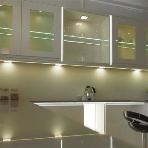 kitchen led lighting cabinet sirius cabinet high output led flat panel square light 8320