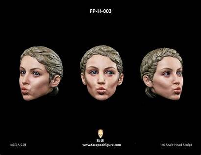Female Sculpt Head Expression Fp Headsculpt Caucasian