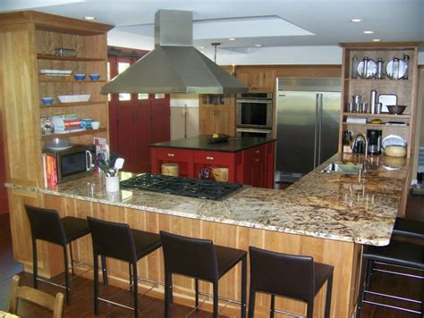 kitchen island with cooktop and seating outstanding small l shaped kitchen design of kitchen