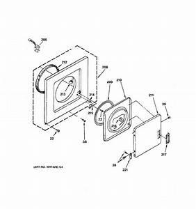 Dryer Front Panel  U0026 Door Parts Diagram  U0026 Parts List For