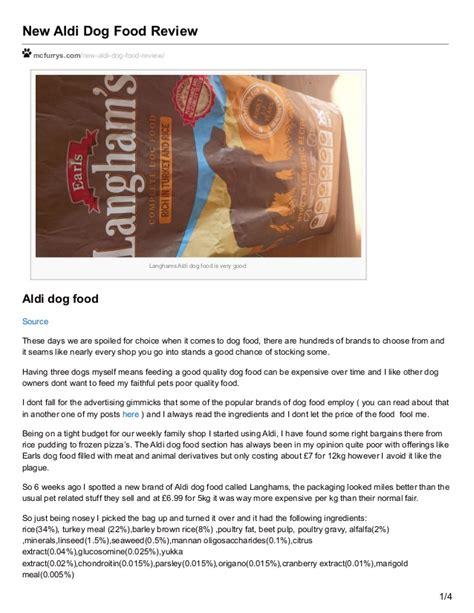 mcfurryscom  aldi dog food review