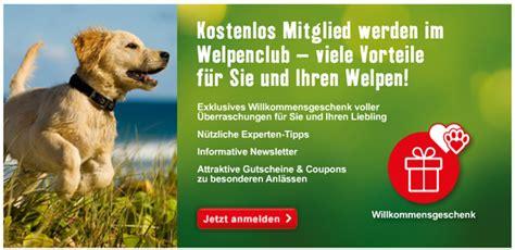 willkommensgeschenk fuer welpen hundefutter und mehr gratis
