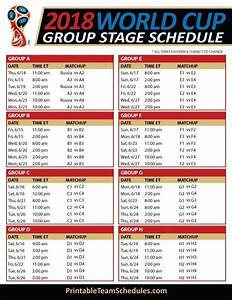 Fifa World Cup Group Stage Schedule 2018 Print