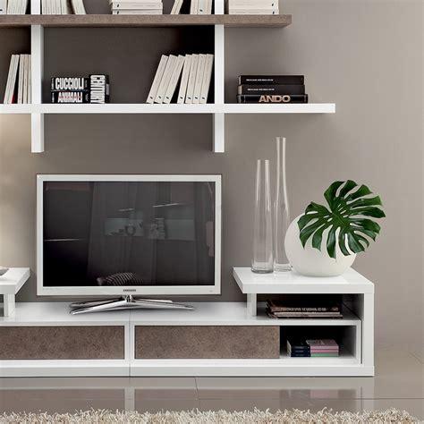 mensole porta tv mobile porta tv da terra con mensole garnette4