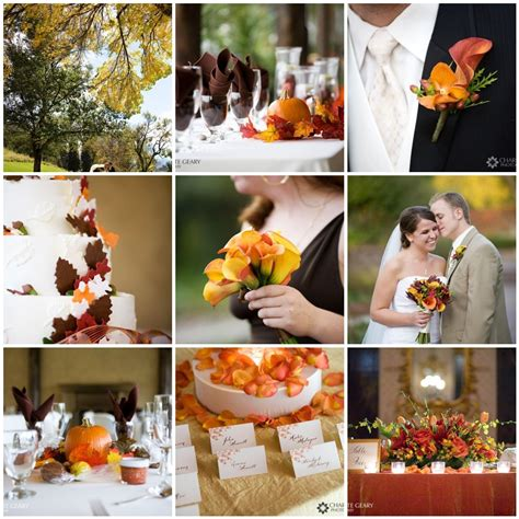 Fall Wedding Inspiration Board Traditional Fall Colors