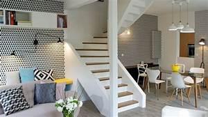 refaire le salon relooking amenagement couleurs With salle À manger contemporaine avec style scandinave bleu