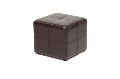 Affordable Ottoman by Nox Brown Bonded Leather Cube Ottoman Affordable