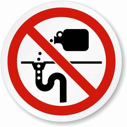 Drain Signs Dispose Chemicals Chemical Symbol Dumping