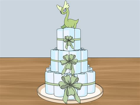 baby shower towel cake  pictures wikihow