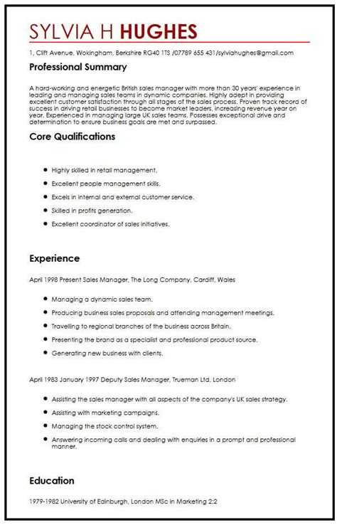 Curriculum vitae is going to play an essential role in fetching you the very job. British CV Template - myPerfectCV