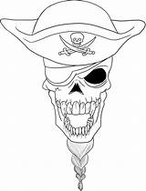 Skull Pirate Coloring Pages Printable Adult Getcolorings Colorings sketch template