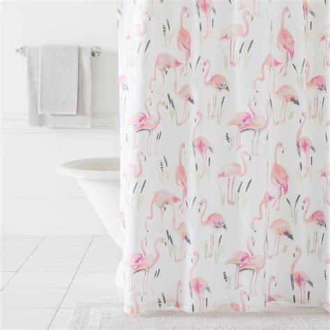 flamingo shower curtain flamingos shower curtain pine cone hill