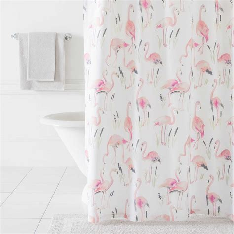 Flamingos Shower Curtain   Pine Cone Hill