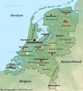 Deutschland Physische Karte : niederlande karte landkarten von niederlande ~ Watch28wear.com Haus und Dekorationen