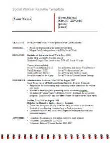 social worker resume templates free social worker resume exles free word templates