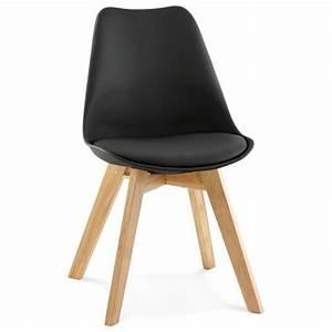 Chaise Noire Design : chaise contemporaine style scandinave fjord noir ~ Teatrodelosmanantiales.com Idées de Décoration