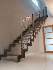 Garde Corps Escalier Interieur : interieur escaliers escaliers a limons lateraux zig zag ~ Dailycaller-alerts.com Idées de Décoration