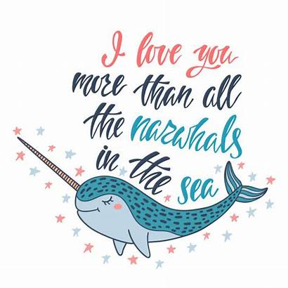 Narwhal Narwhals Vector Than Clip Sea Illustrations