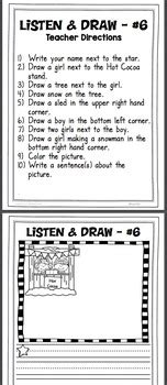 listen  draw listening comprehension activity