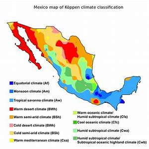 Mexico map of Köppen climate classification - Geography of ...
